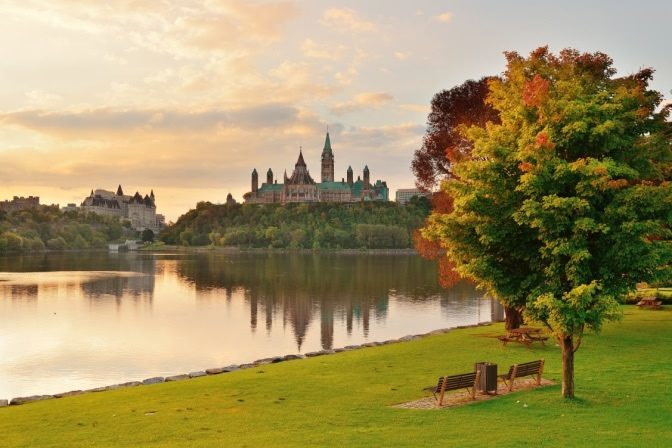 Photo de la colline parlementaire à Ottawa