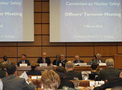Ramzi Jammal à la à la réunion de roulement de la Convention sur la sûreté nucléaire tenue à l'administration centrale de l'AIEA