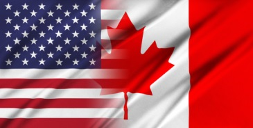Image of USA & Canada Flag