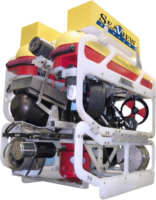 Text Box: Figure 3 : Seaeye Falcon DR ROV equipped with sonar, used at Cameco's Cigar Lake, Saskatchewan