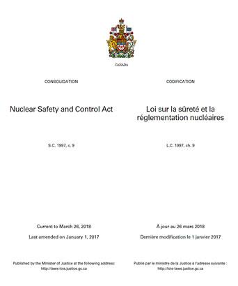 Loi sur la sureté et la réglementation nucleaires