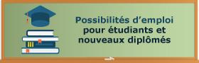 Possibilités d'emloi pour étudiants et nouveaux diplômés