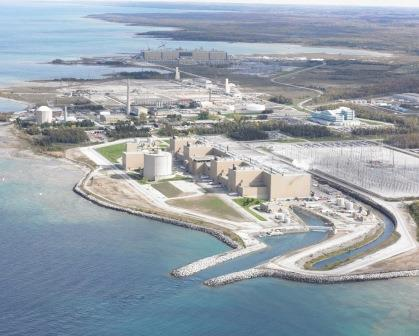 Aerial view of the Bruce B Nuclear  Generating Station