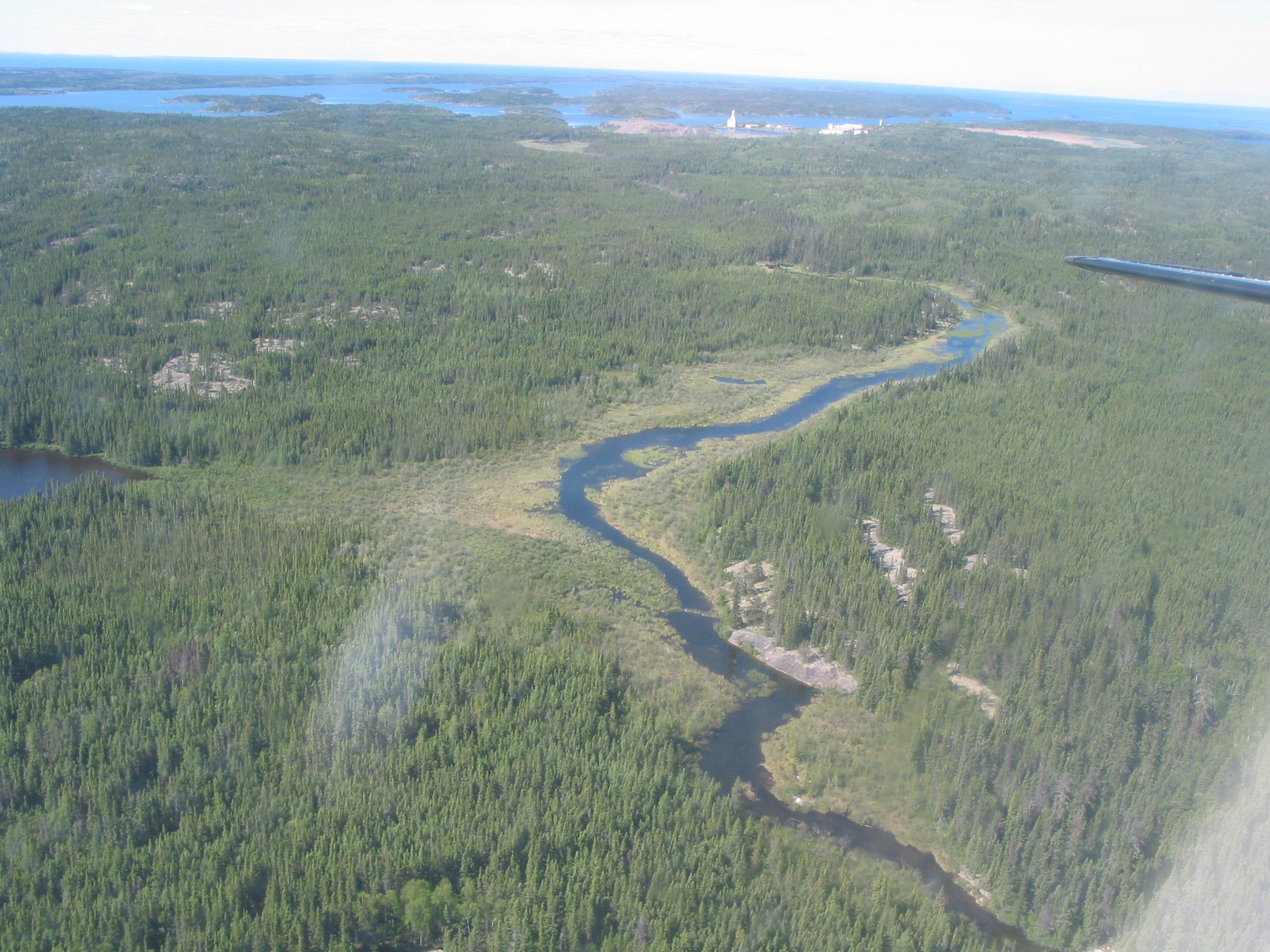 Vue aérienne du site Gunnar.