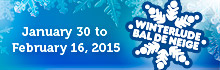 Winterlude from January 30 to February 16, 2015
