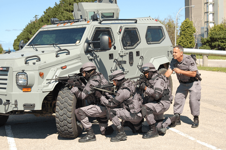 Photo of Bruce Power's Nuclear Response Force during a training exercise