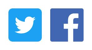 Logos de Facebook et Twitter