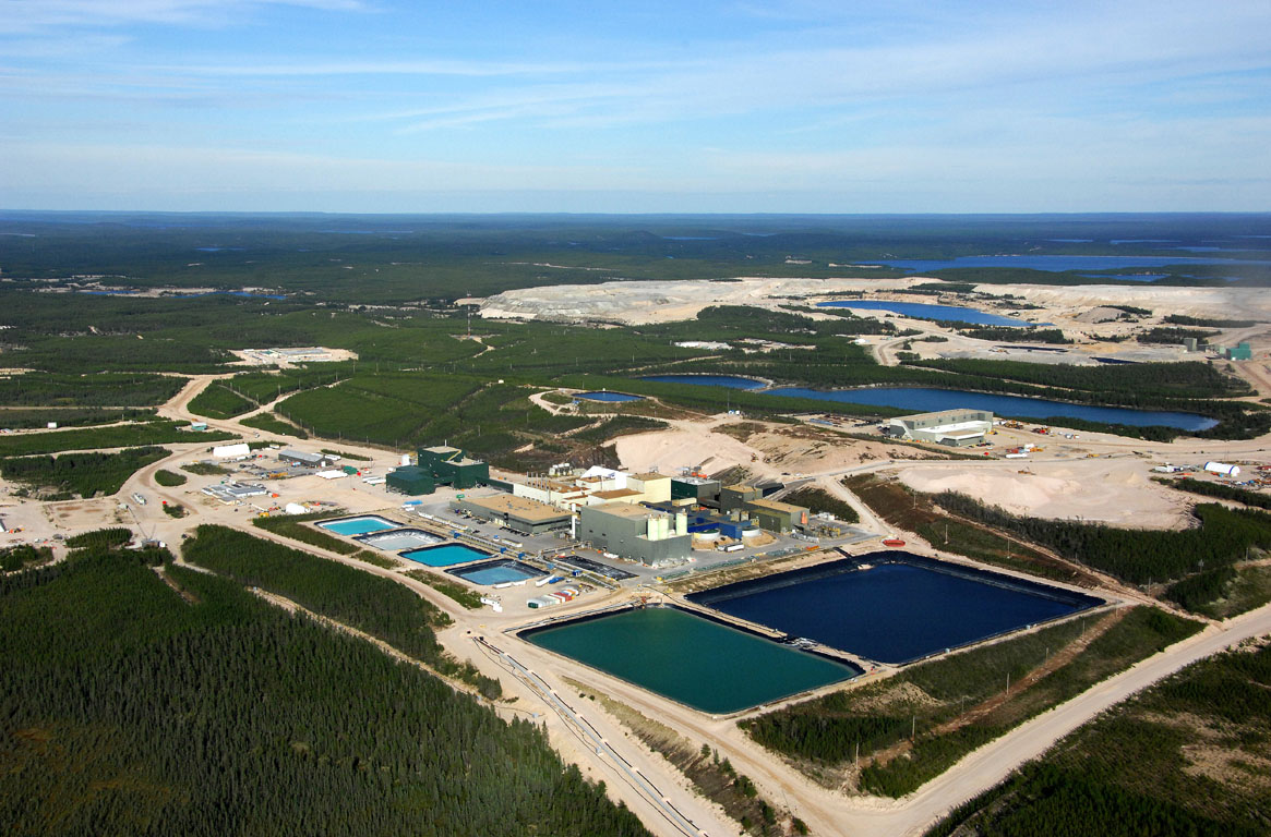 Aerial view of Cameco's Key Lake Mill