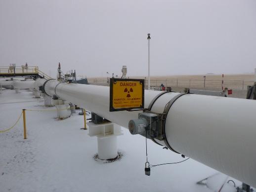 Jauge fixe sur un pipeline