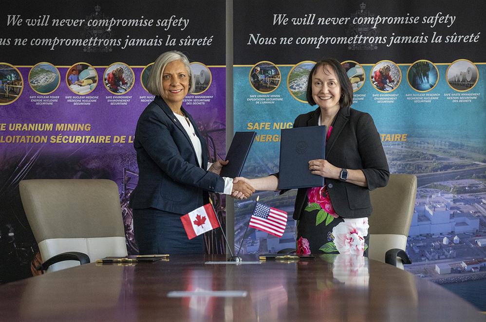 CNSC President Rumina Velshi and U. S. NRC Chairman Kristine Svinicki