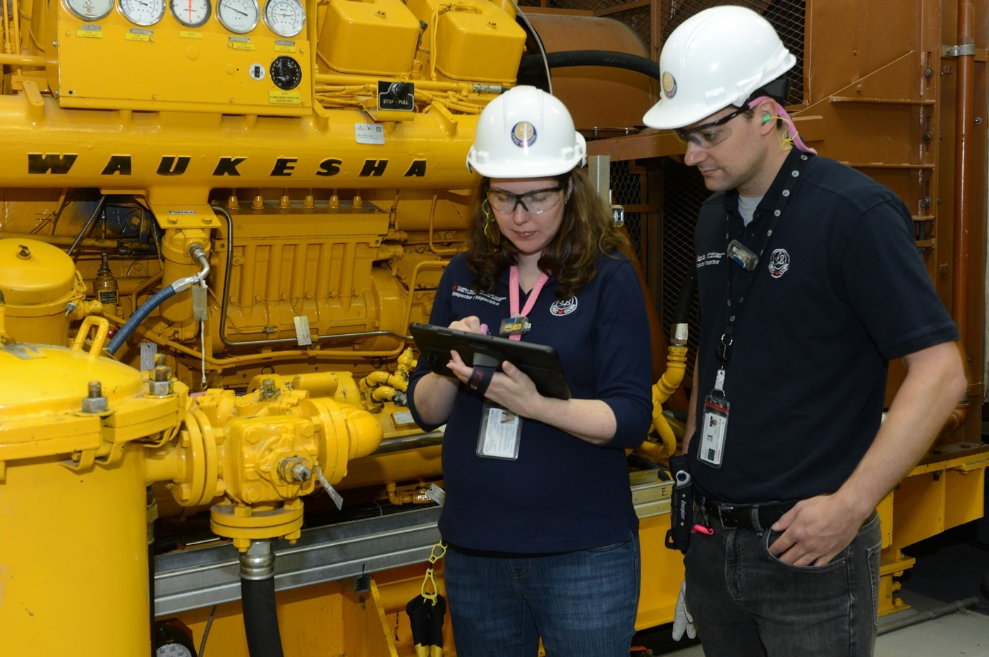 Figure 1: CNSC staff conducting an inspection at a nuclear power plant