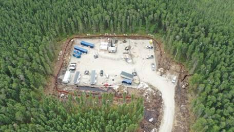 Image du    troisième site de forage dans la région d'Ignace-Wabigoon