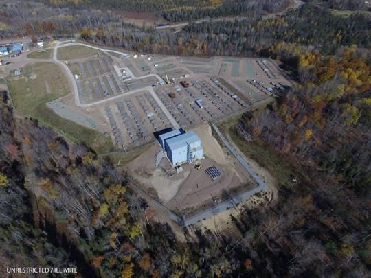 Image de    la zone de gestion des déchets B des LCR