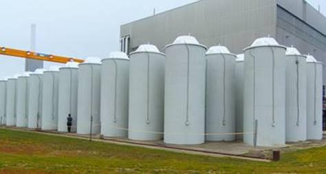 Image du    stockage du combustible à Douglas Point