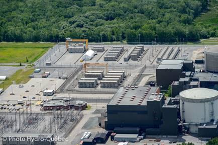 Image de    la centrale nucléaire de Gentilly-2