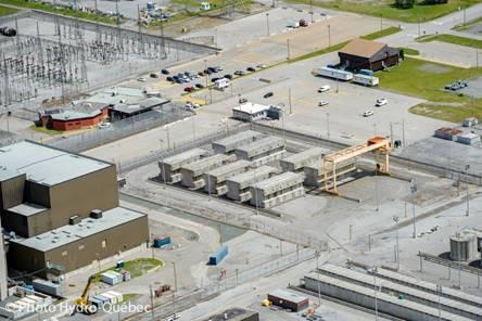 Image de    l'installation de stockage à sec du combustible usé de Gentilly-2
