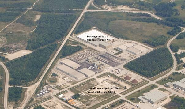 Image de    l'installation de stockage à sec du combustible usé Western