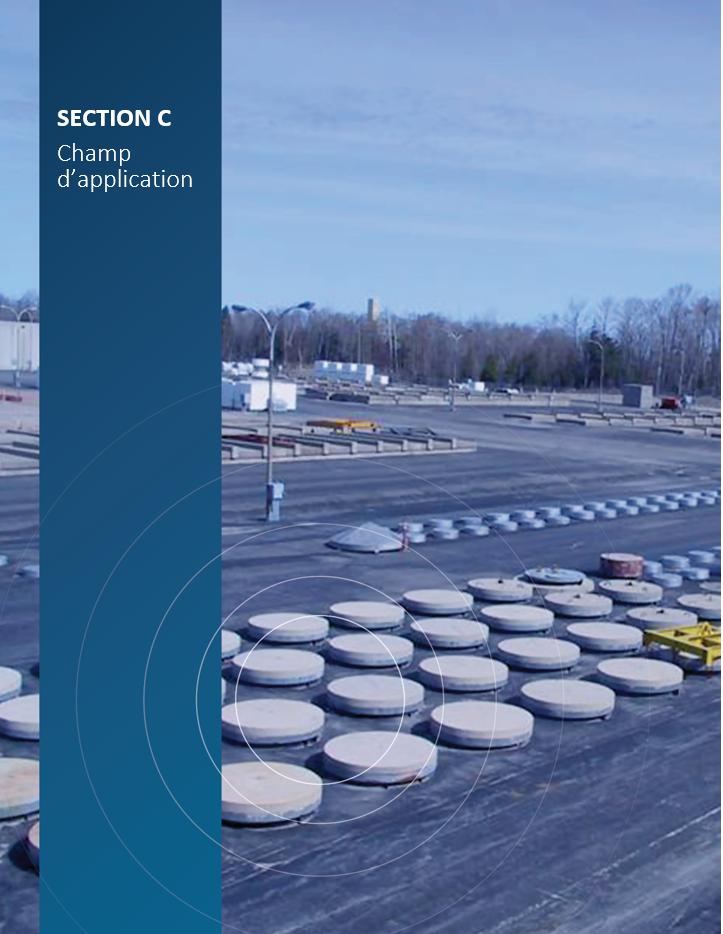 Image de    couverture pour la section C, Champ d'application, montrant l'installation de    gestion des déchets Western d'Ontario Power Generation