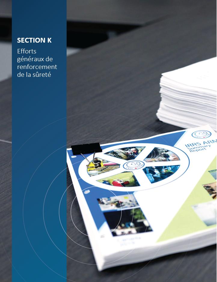 Image de    couverture pour la section K, Efforts généraux de renforcement de la sûreté