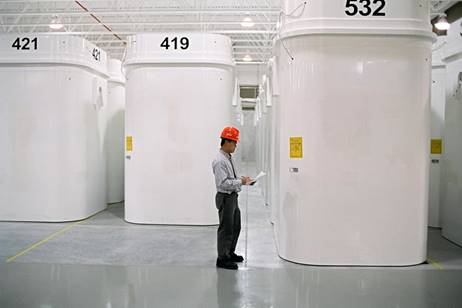 Image of dry storage containers at an OPG WMF