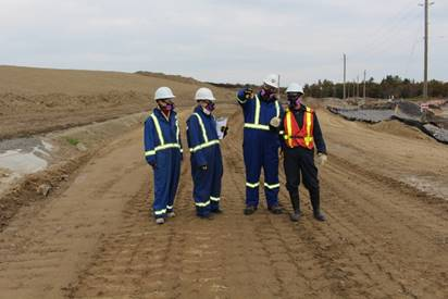 Image of compliance verification taking place at the Deloro site