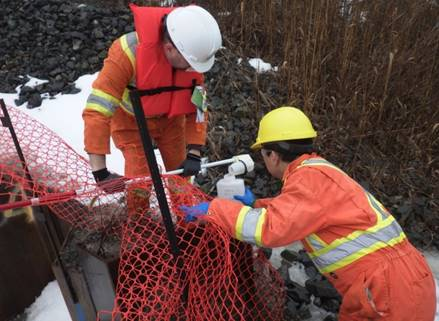 Image of compliance verification taking place at Port Granby
