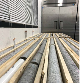 Image of core samples from the borehole drilling near Ignace