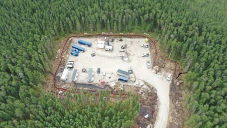 Image of the third borehole site in the Ignace-Wabigoon area