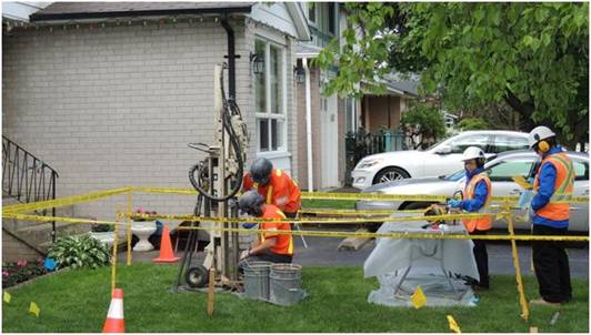 Image of radiological investigation at residential property
