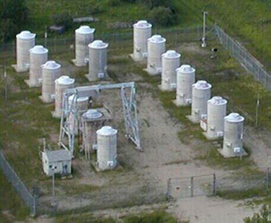 Image of Whiteshell Laboratories Concrete Canister Storage Facility