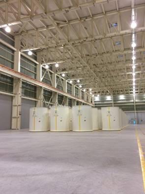 Image of Darlington storage overpacks stored at the Darlington WMF