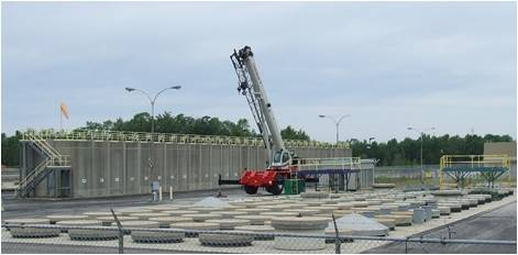 Image of in-ground storage structures at Western WMF for ILW