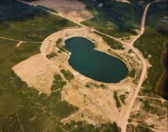 Image of decommissioned Cluff Lake mining areas