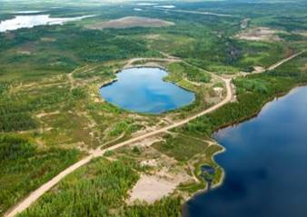 Image of Cluff Lake mining areas six years post-decommissioning