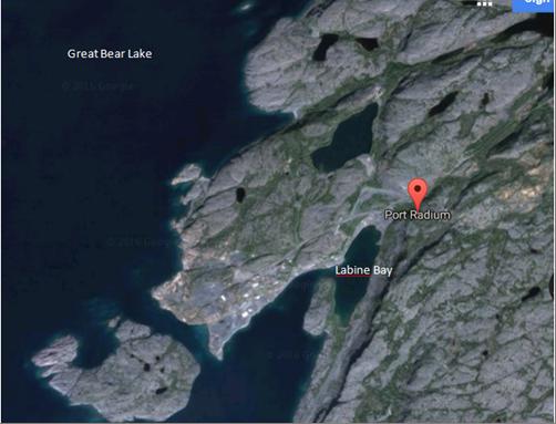Image of Google satellite view of Port Radium