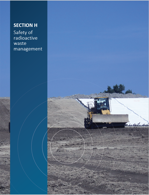 Cover image of the construction of the compacted clay liner at the Port Granby Long-Term Waste Management Facility 'Section H Safety of radioactive waste management'