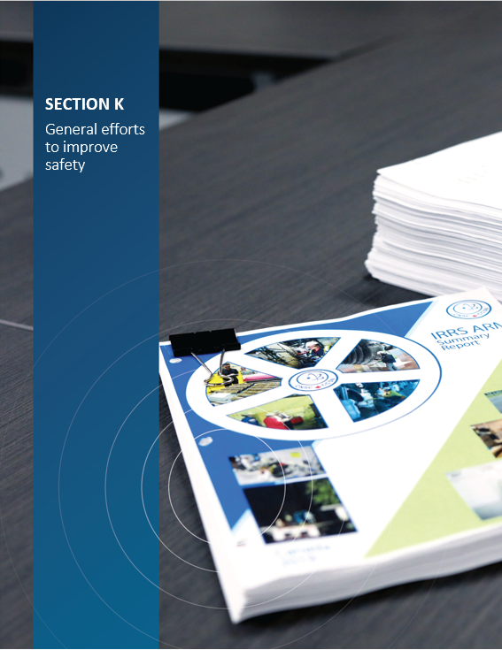 Cover image of report documents for 'Section K General efforts to improve safety'