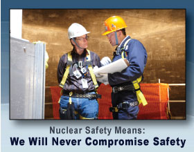 Nuclear safety means: We will never compromise safety