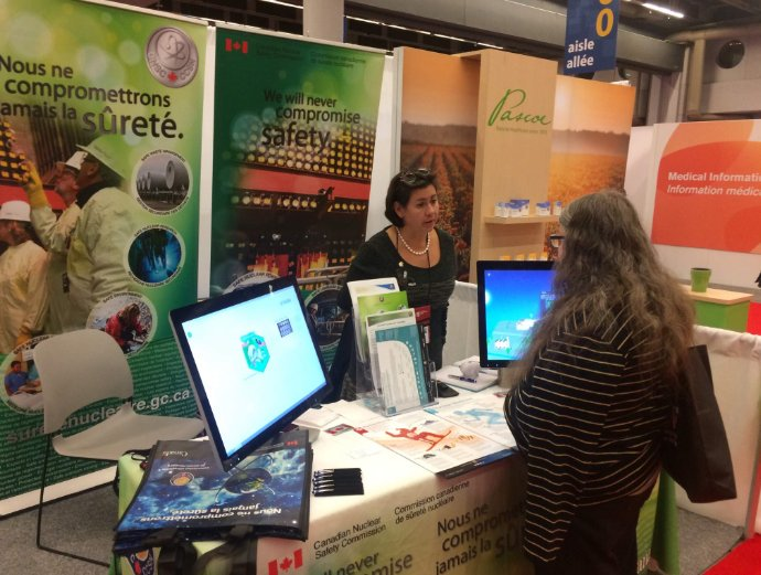 Figure 3: CNSC information booth at the Family Medicine Forum in Montréal, QC