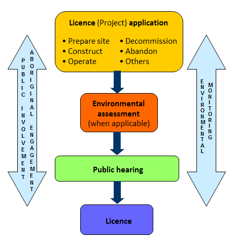 Licensing and EA processes for geologic repositories
