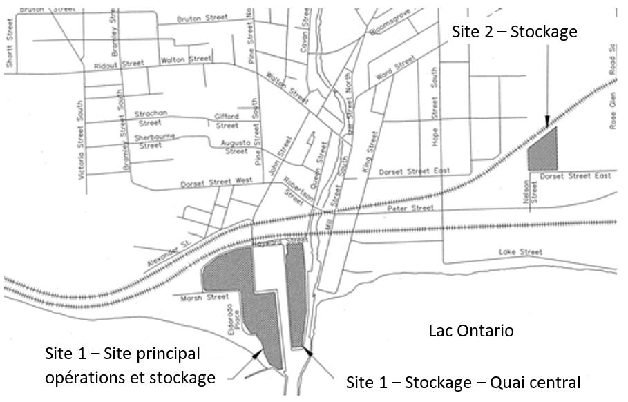 Sites 1 et 2 de l'ICPH, dans la municipalité de Port Hope (Ontario)