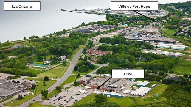 Vue aérienne de l'installation de CFM