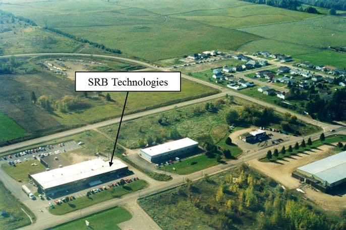 Vue aérienne de l'installation de SRBT