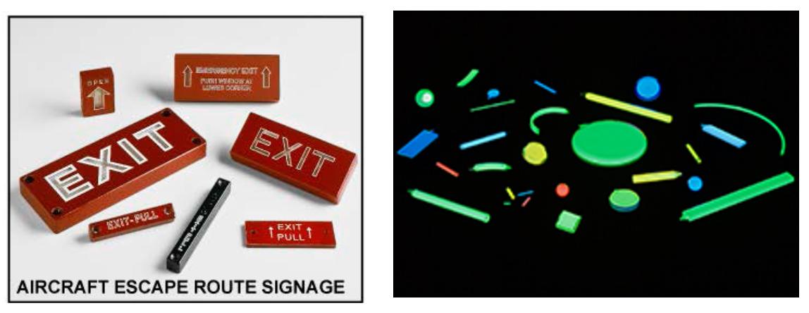Panneaux indicateurs et marqueurs contenant des SLTG, fabriqués à l'installation de SRBT