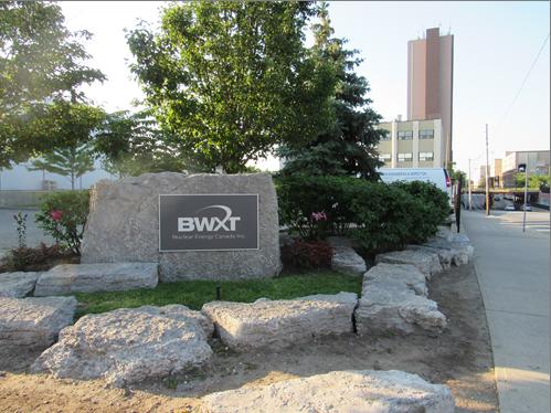 Cette photo montre une vue de l'installation de BWXT Nuclear Energy Canada Inc. à Toronto, en Ontario.