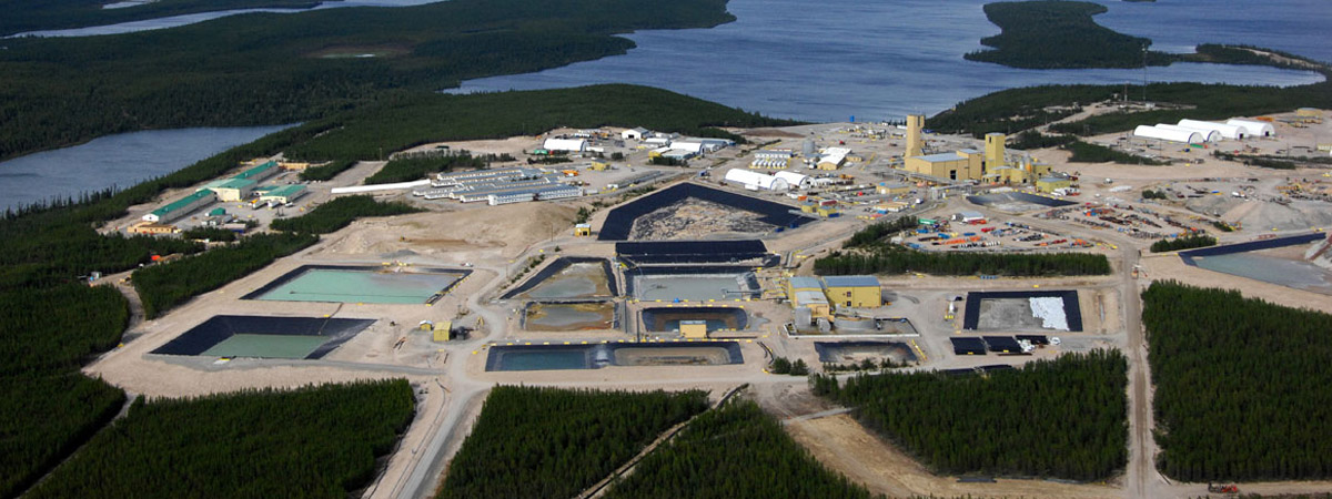 Aerial view of Cameco's Cigar Lake Mine