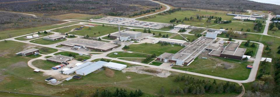 Photo aérienne des Whiteshell Laboratories in Pinawa, Manitoba